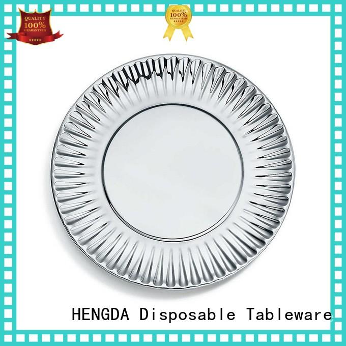 colored green HENGDA Disposable Tableware Brand quality paper plates