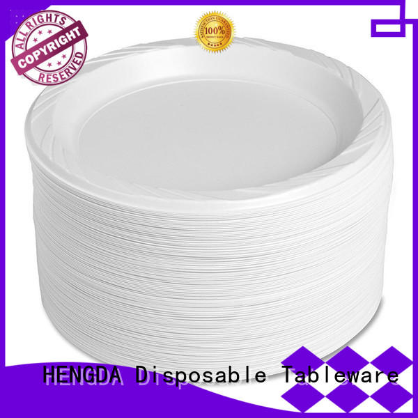 Custom for wholesale party wholesale plastic plates HENGDA Disposable Tableware 100% food grade