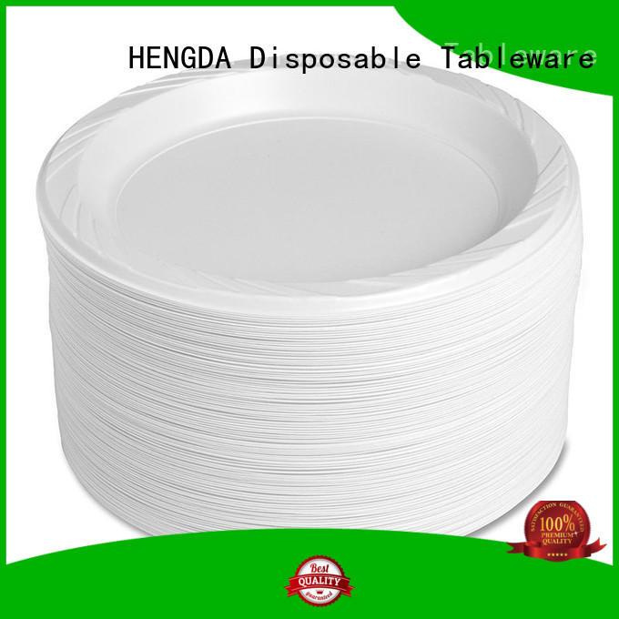 Custom custom 100% food grade wholesale plastic plates HENGDA Disposable Tableware containers