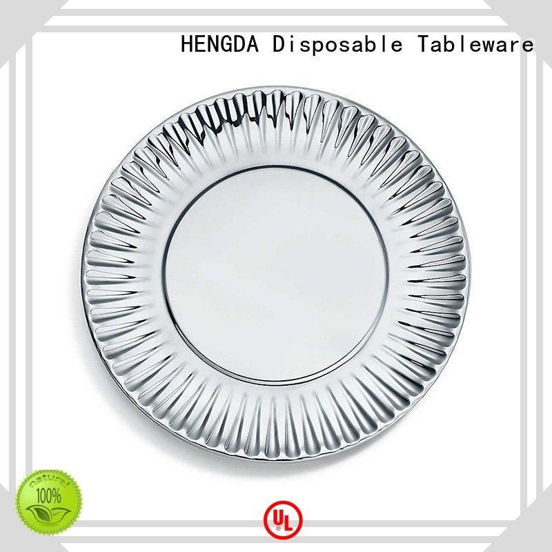 HENGDA Disposable Tableware biodegradable biodegradable paper plates certifications for meeting