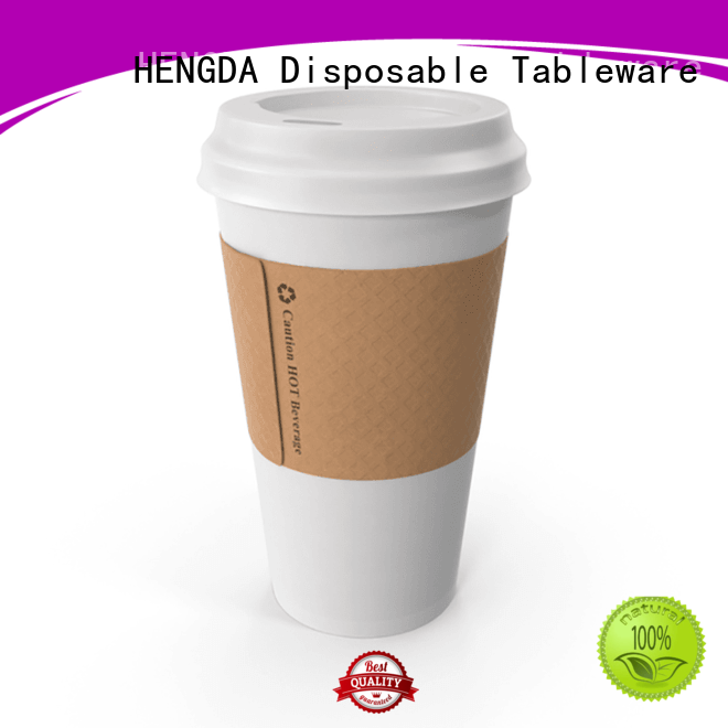 Quality HENGDA Disposable Tableware Brand hot drink printed paper party cups