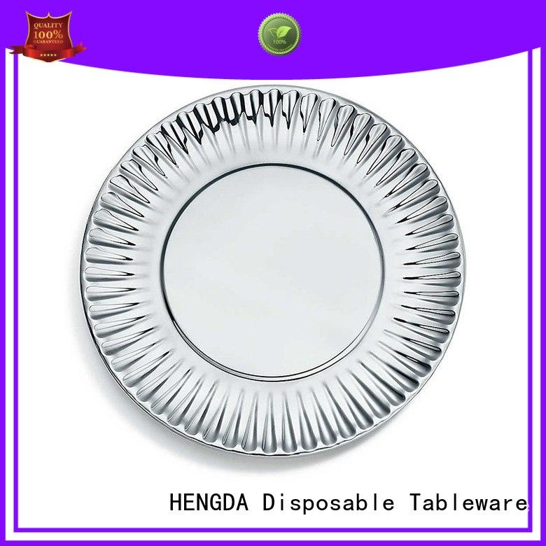 HENGDA Disposable Tableware sturdy paper plates certifications for activities