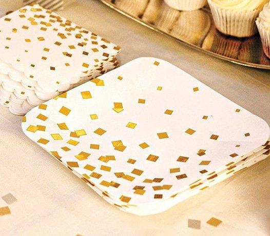 Fancy Hot-Stamping Gold and Silver Paper Plate-1