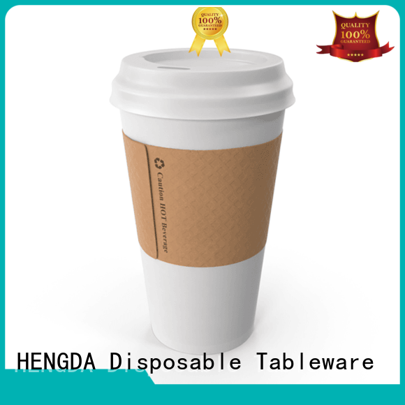 single wall with lids cold drink ripple wall HENGDA Disposable Tableware Brand paper party cups supplier