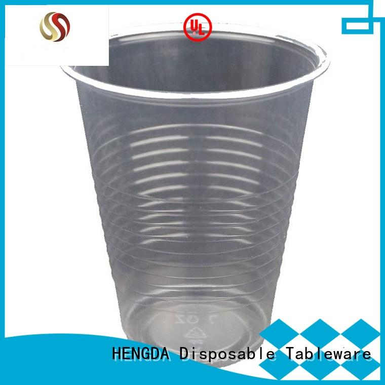 HENGDA Disposable Tableware Brand colorful hot drink pp plastic plates and cups manufacture