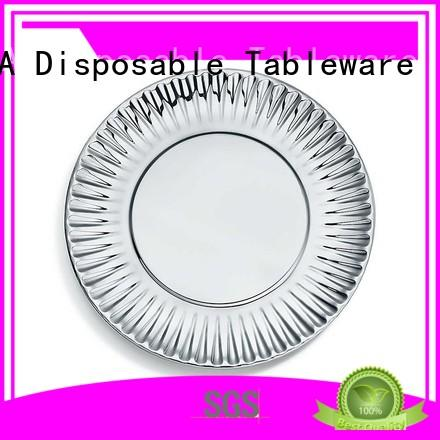 Custom gold disposable paper plates party HENGDA Disposable Tableware