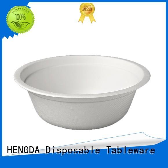 Bagasse Bowls in bulk disposable HENGDA Disposable Tableware Brand compostable bowls