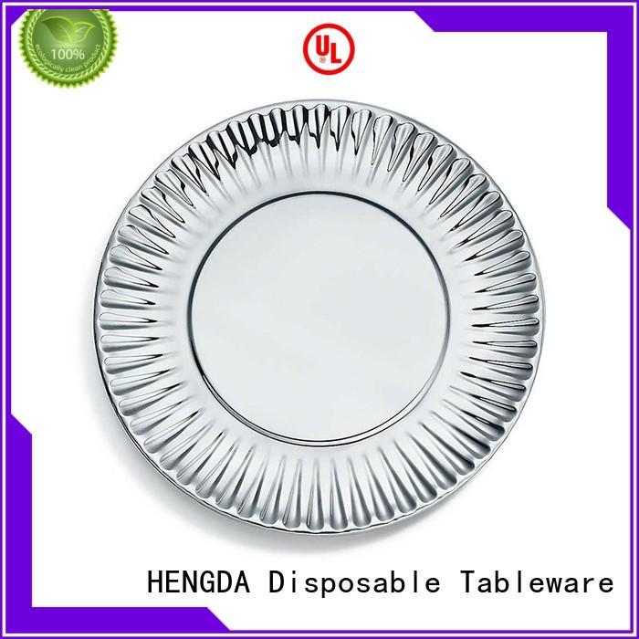 quality paper plates wedding green cardboard Warranty HENGDA Disposable Tableware