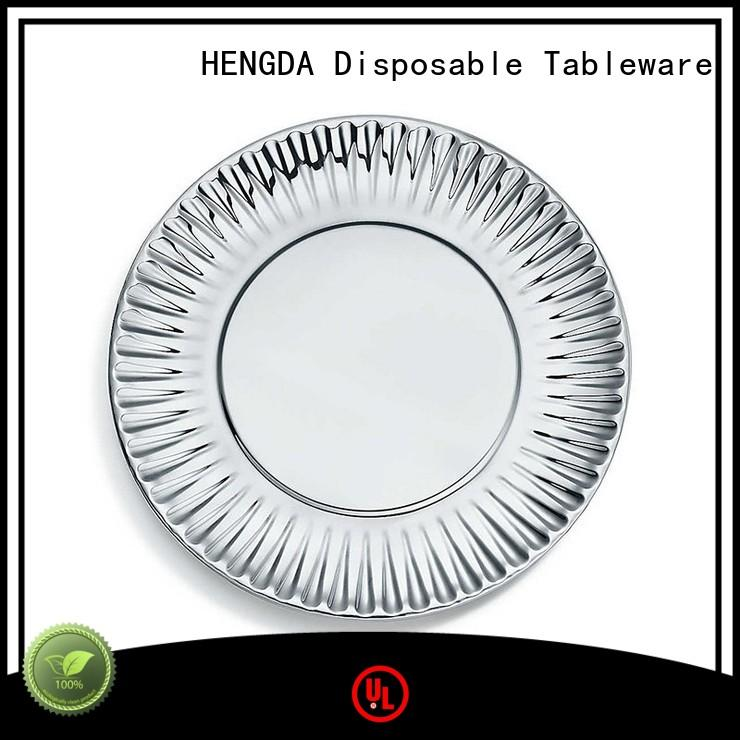 Wholesale party quality paper plates white HENGDA Disposable Tableware Brand