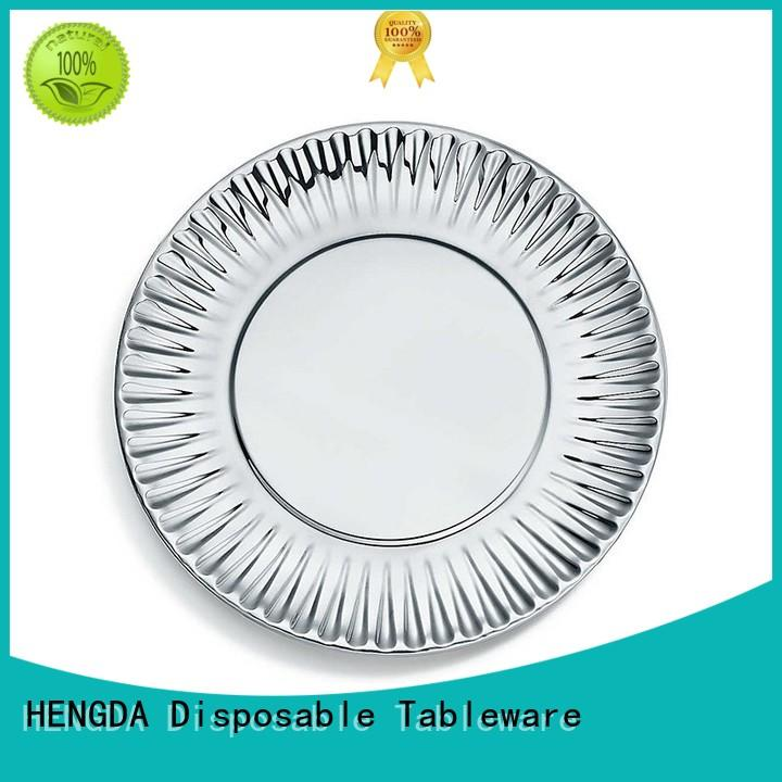 fancy biodegradable paper plates plates for canteen HENGDA Disposable Tableware