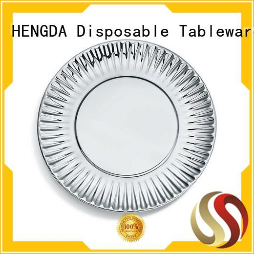 good quality paper plates fancy for canteen HENGDA Disposable Tableware