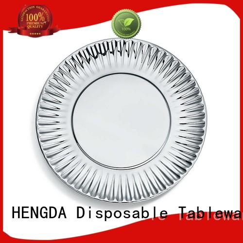 HENGDA Disposable Tableware safety sturdy paper plates certifications for party