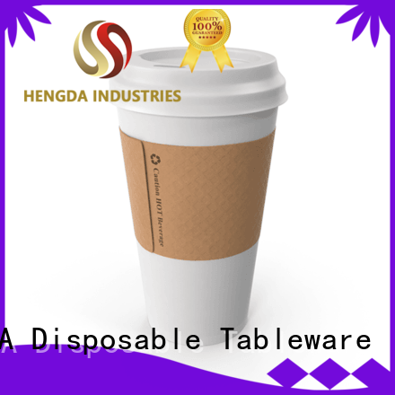HENGDA Disposable Tableware stable paper cups bulk in-green for canteen