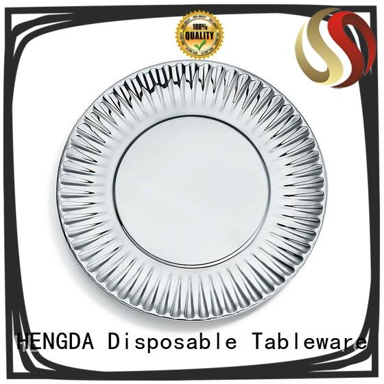 HENGDA Disposable Tableware compostable biodegradable paper plates directly sale for canteen