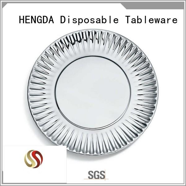 fancy Custom quality disposable paper plates environment-friendly HENGDA Disposable Tableware