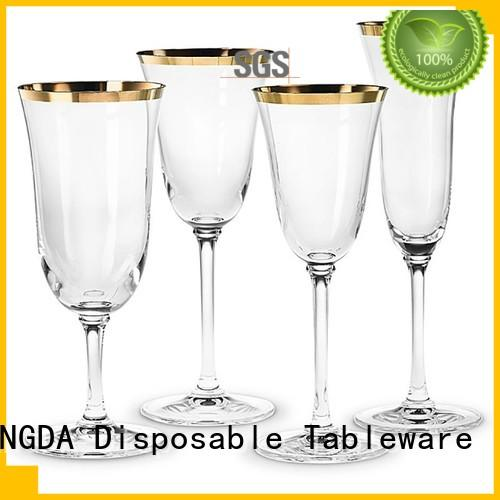 party plastic disposable hotstamping HENGDA Disposable Tableware Brand elegant disposable dinnerware supplier