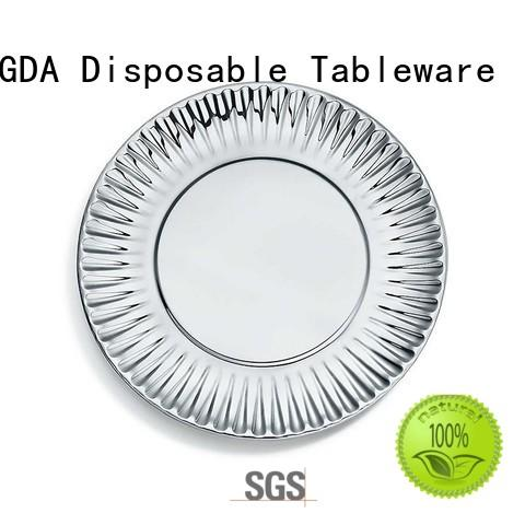 white quality paper quality paper plates HENGDA Disposable Tableware manufacture
