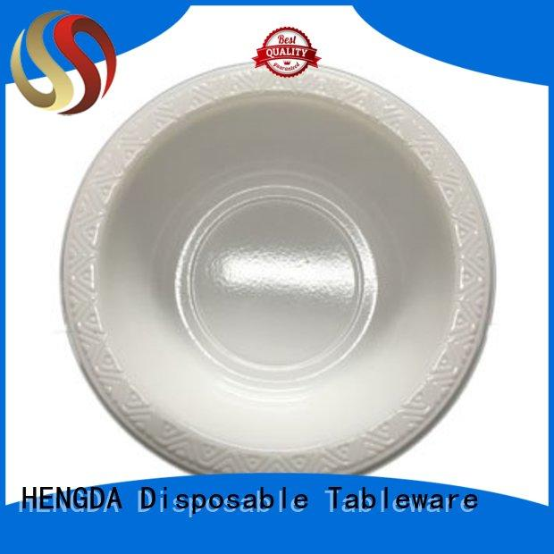 disposable plates and bowls white HENGDA Disposable Tableware Brand small plastic party bowls