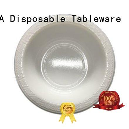 disposable white HENGDA Disposable Tableware Brand small plastic party bowls