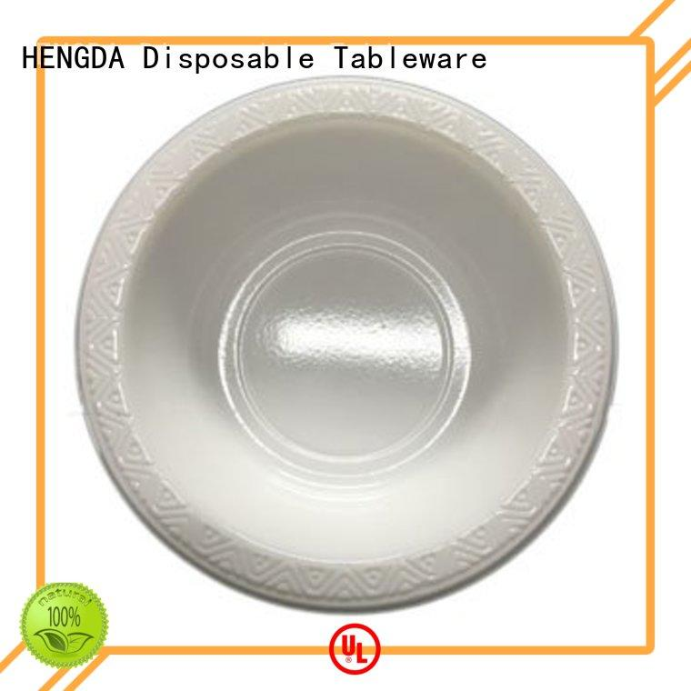 plastic white small plastic party bowls 100% food grade HENGDA Disposable Tableware Brand company