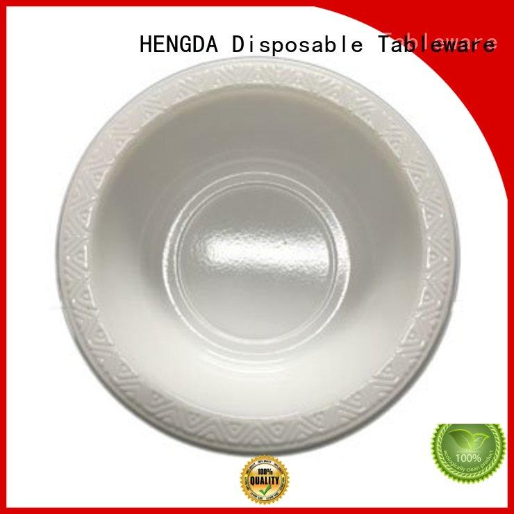 disposable plates and bowls white ps HENGDA Disposable Tableware Brand
